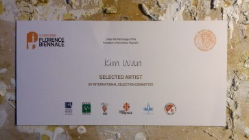 Kim Wan, selected artist for Florence Biennale
