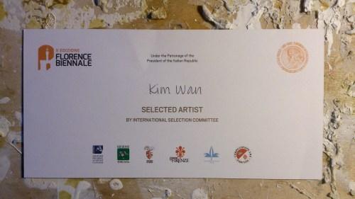 Kim Wan, selected artist for Florence Biennale