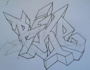 Preparatory drawing for 'BIKE' 2018