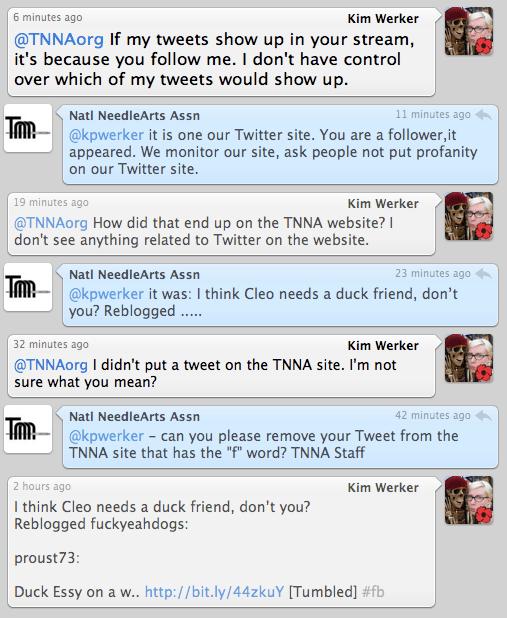 TNNA Twitter exchange