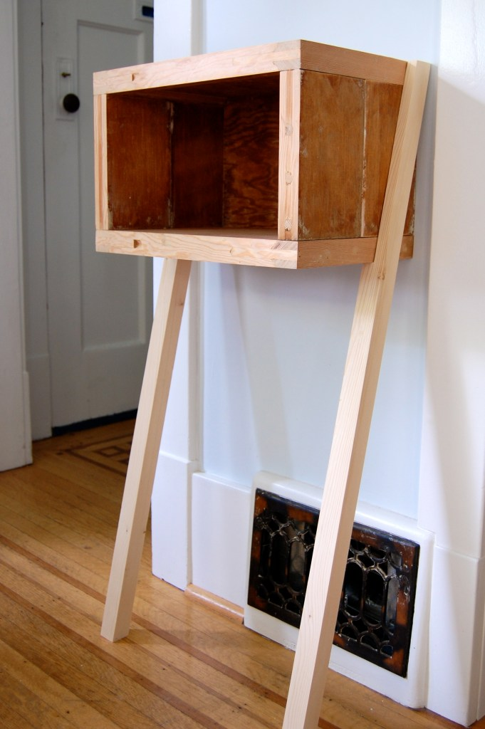 upcycled table unvarnished