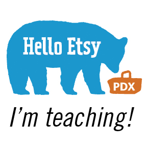 Hello Etsy Portland teacher badge