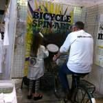 Bike-powered spin art!