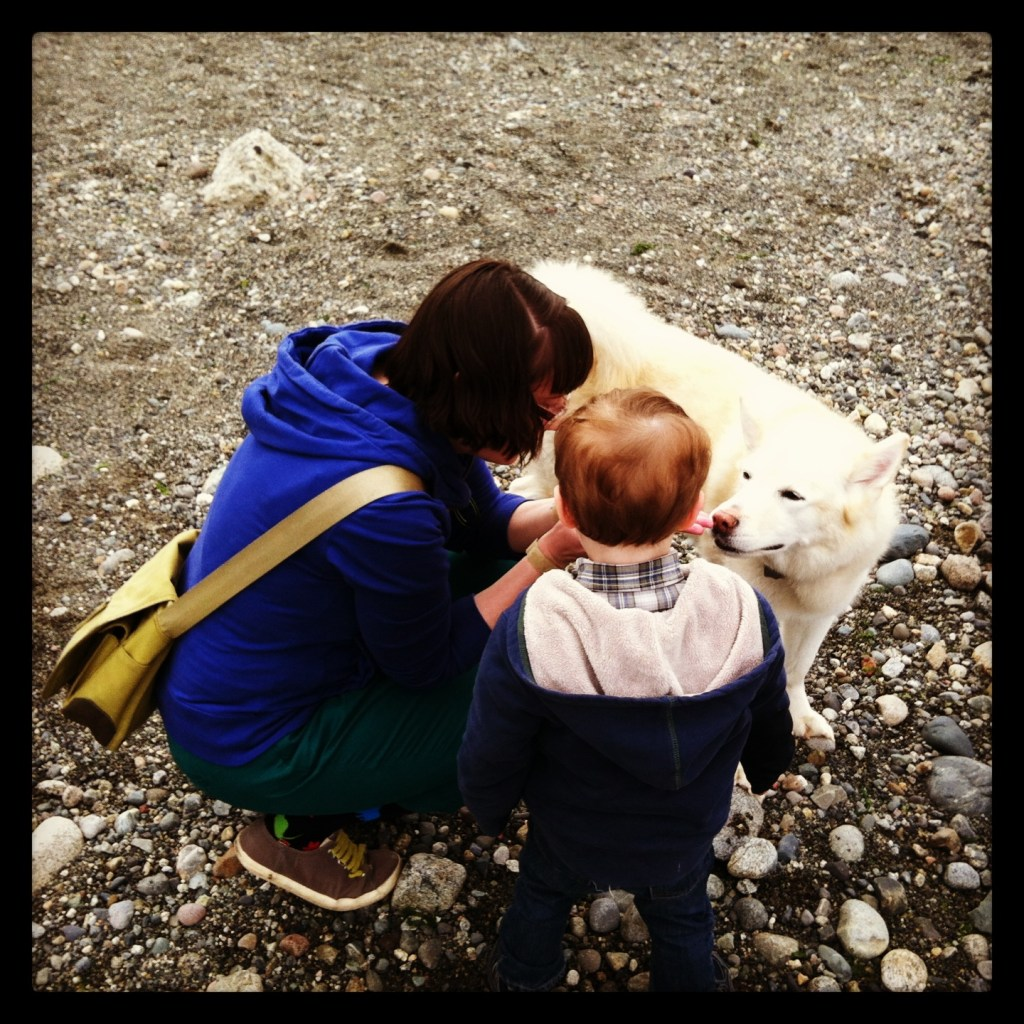 We explored rocks at the beach.