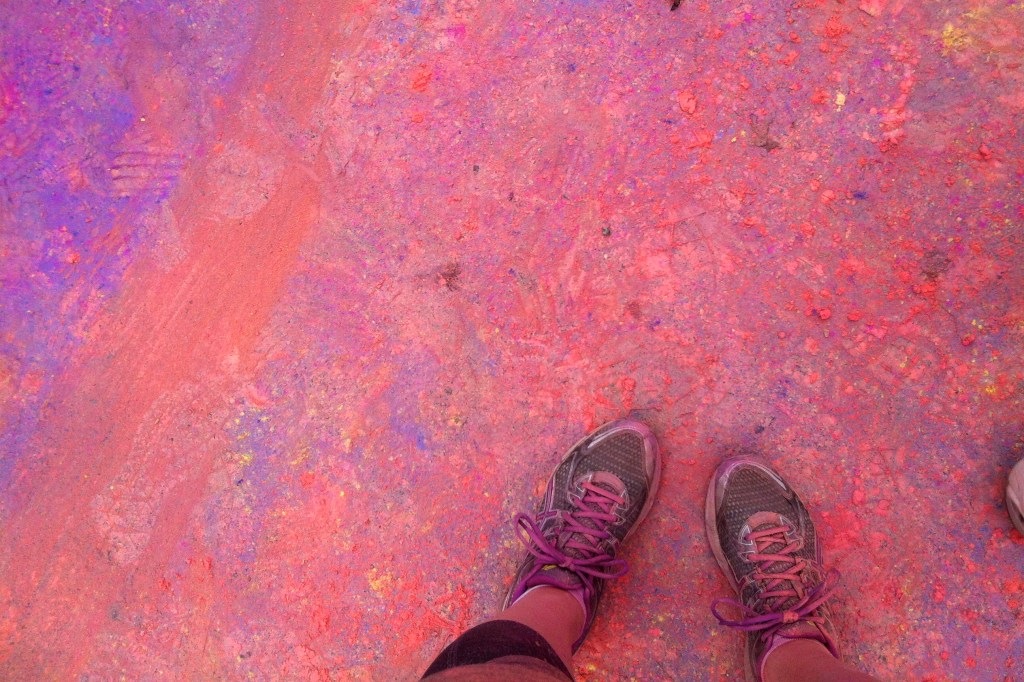 Color Run all over the ground.