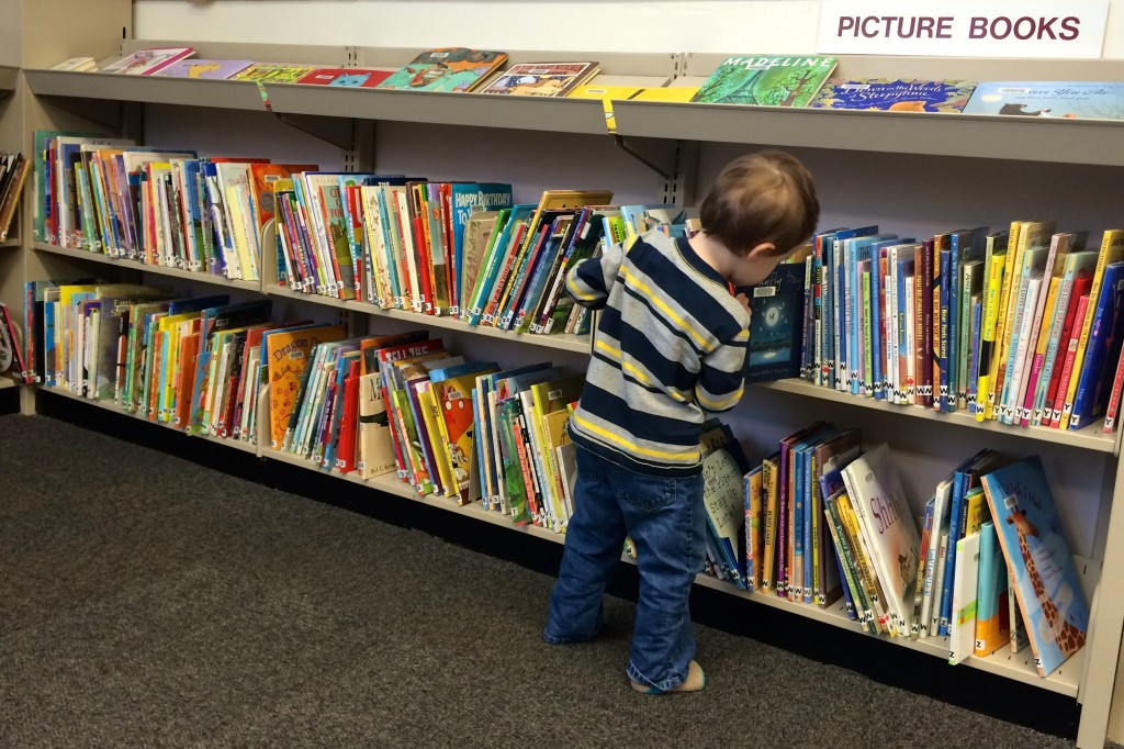 Picture books section at the Dunbar Library.