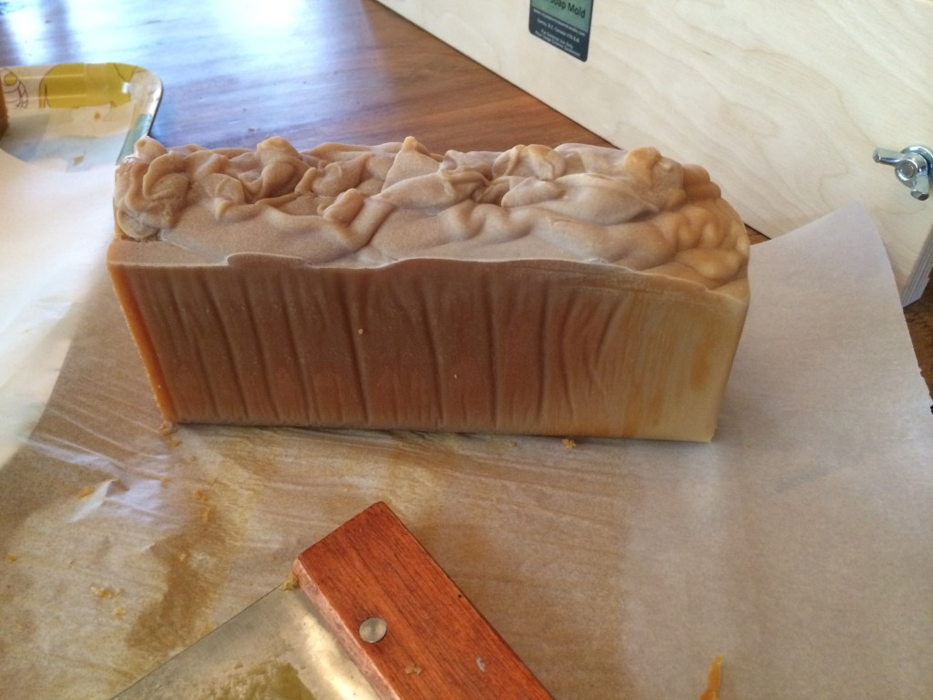 Cut Cold Process Soap with Honey