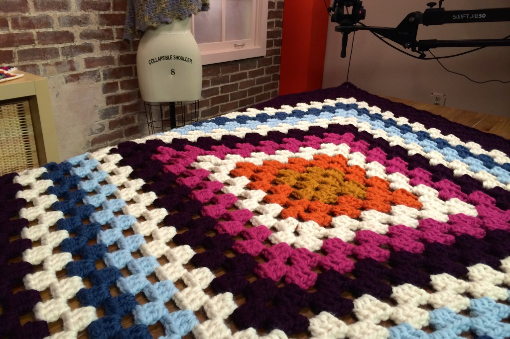 giant granny square blanket