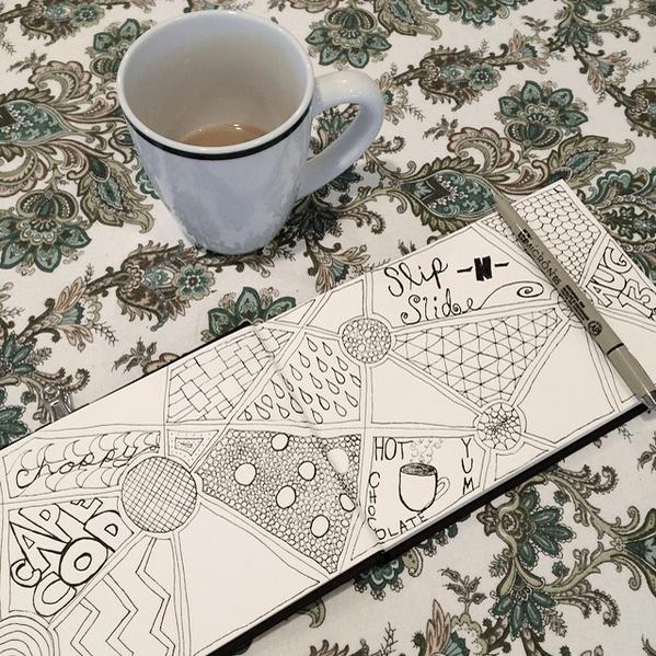 Art Journaling - cape cod