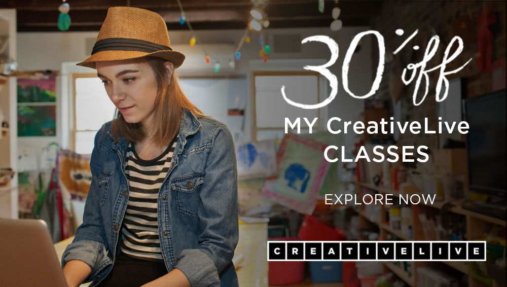 CreativeLive classes are on sale till July 27th!