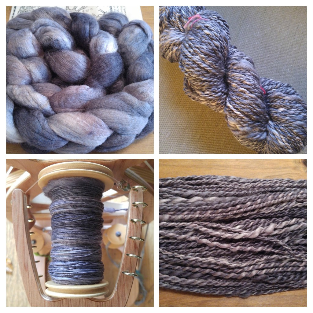 merino/silk handspun yarn