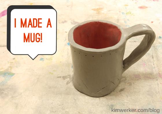 I made a mug at a 4Cats workshop. So much fun!