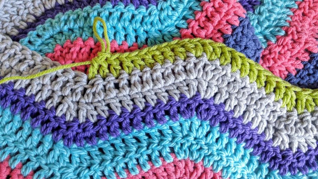 Crochet ripple blanket WIP. http://kimwerker.com/blog