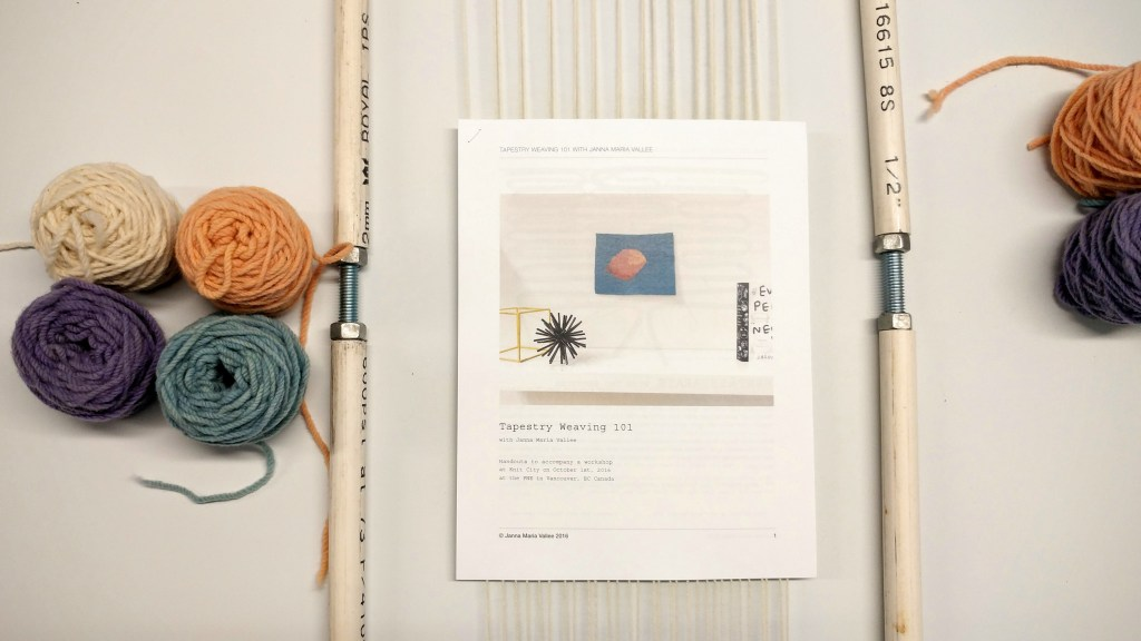 Tapestry weaving class - http://kimwerker.com/blog