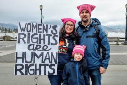 Family in #pussyhats at the #womensmarch - http://www.kimwerker.com/blog