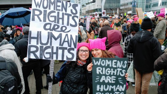 Women's Rights Are Human Rights #womensmarch #pussyhat – http://www.kimwerker.com/blog