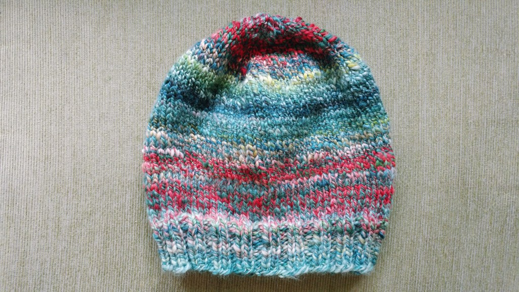 Hat knitted from handspun yarn! http://www.kimwerker.com/blog