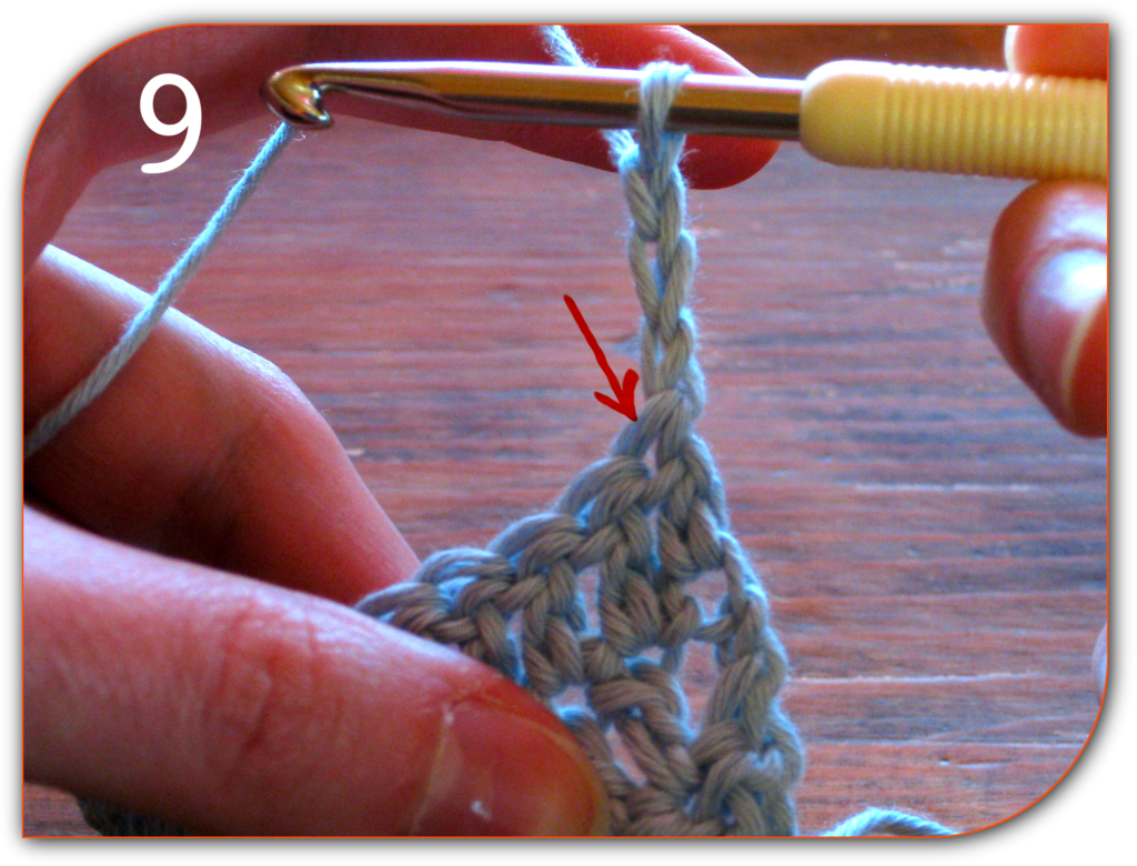 How to make neat edges in double crochet, for beginners - http://kimwerker.com/classes