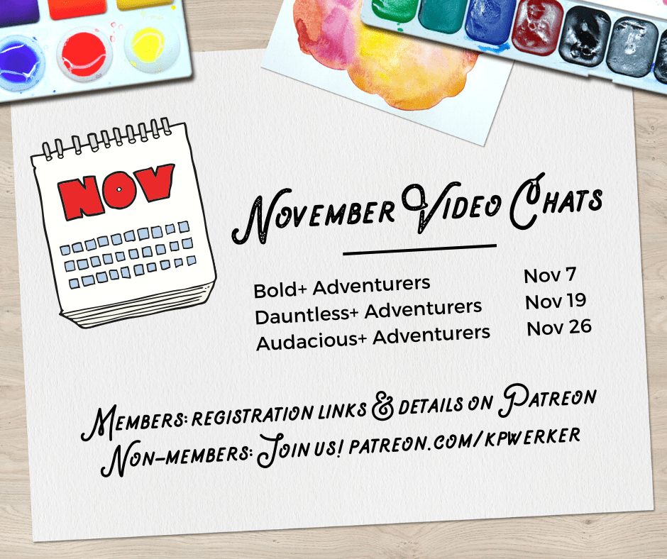 November Video Chat Dates – Kim Werker Patreon Members