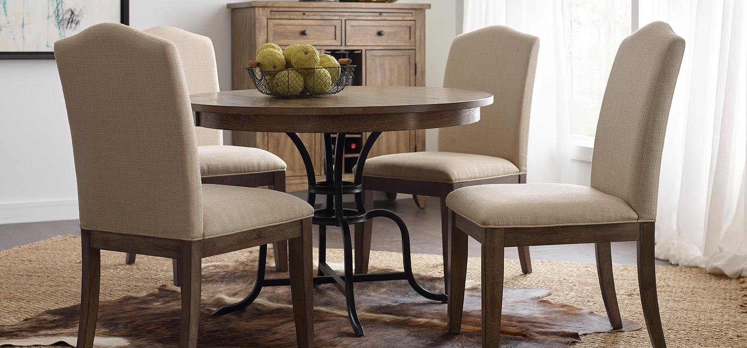 oak kitchen table how to build a island the nook casual dining solution from kincaid furniture solid round