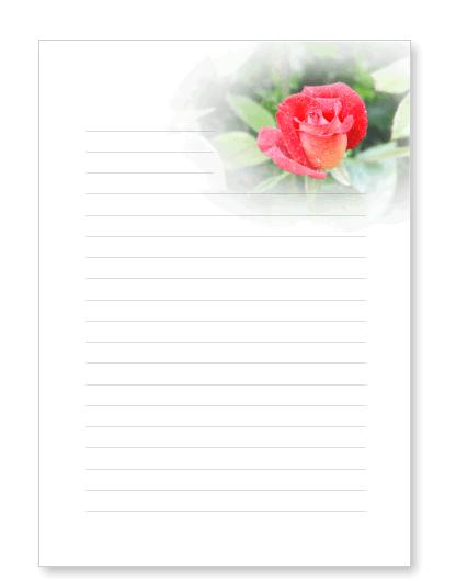 Blumenbriefpapier zum Ausdrucken mit Blten
