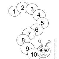 Ausmalbilder Mit Zahlen Von 1 10