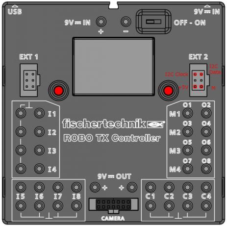 TX Controller Draufsicht I2C