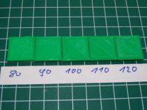 3D-Druck Slicer Test Filamentfluss