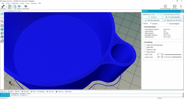 3D-Druck wasserdicht- Blumentopf gross 4 Perimeter