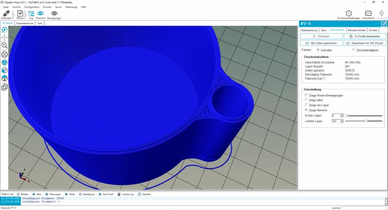 3D-Druck nicht wasserdicht- Blumentopf klein 2 statt 4 Perimeter