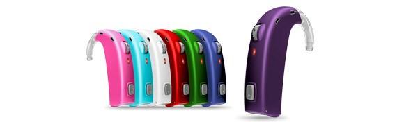 Das Sensei SP von Oticon ist in 12 verschiedenen Farben erhältlich.