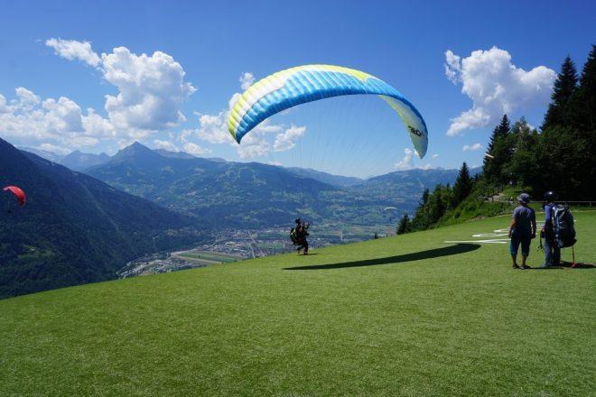 Paraglider starten