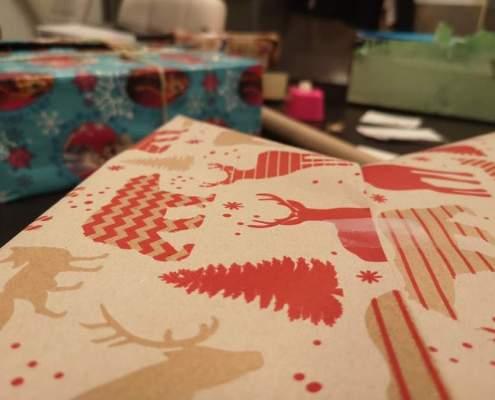 Ingepakte cadeaus