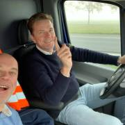 Cadeaus bus onderweg naar Cuxhaven