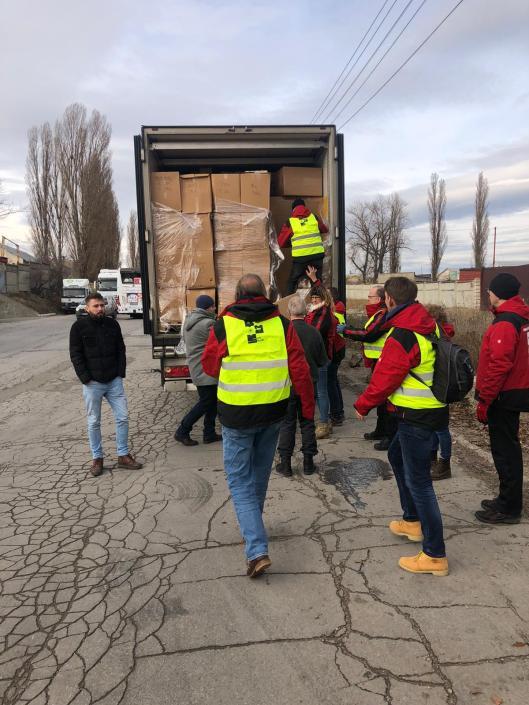 Inlading vrachtwagens