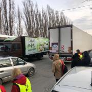 Vrachtwagens gearriveerd