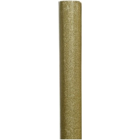 Cadeaupapier/inpakpapier goud/glitters 70 x 150 cm