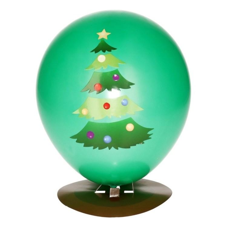 DIY kerstboom ballon maken 27 cm