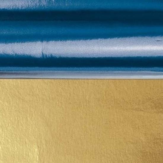 Folie op rol blauw/goud 80 cm