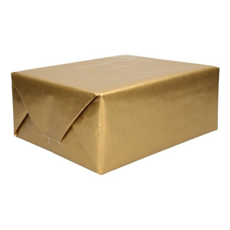 Goud kraftpapier op rol 200 cm