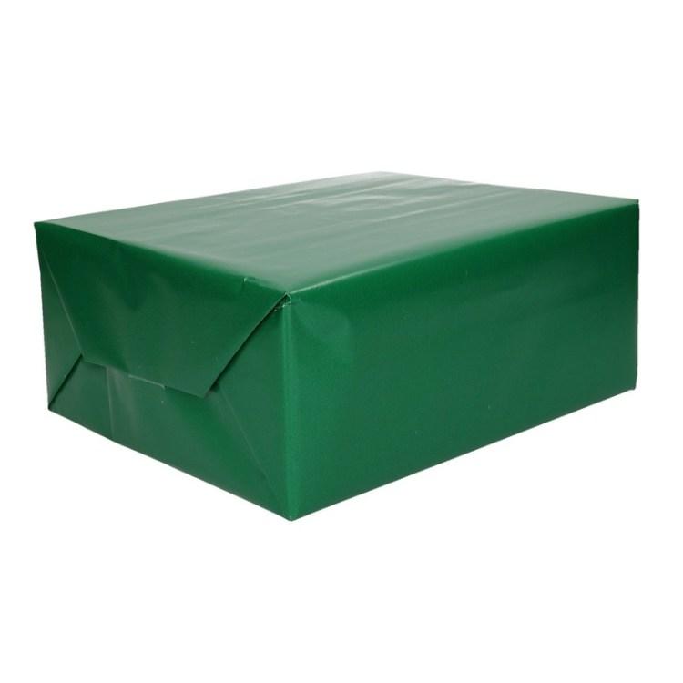 Groen cadeaupapier op rol 70 x 200 cm