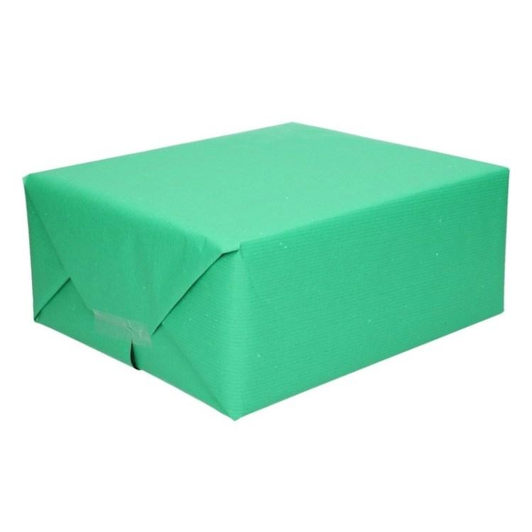 Inpakpapier/cadeaupapier groen kraftpapier 200 x 70 cm rol
