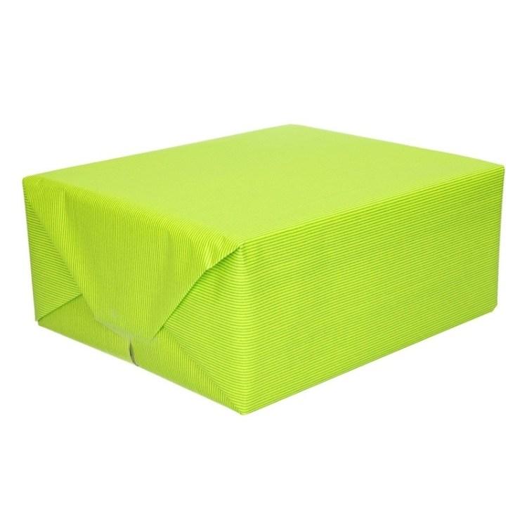 Inpakpapier/cadeaupapier lime groen kraftpapier 200 x 70 cm rol