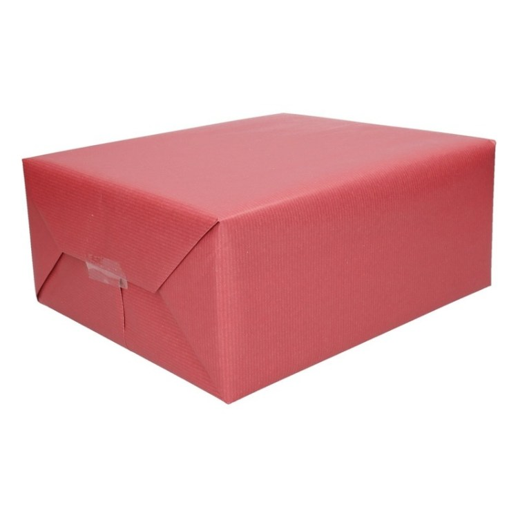 Inpakpapier donkerrood 500 x 50 cm