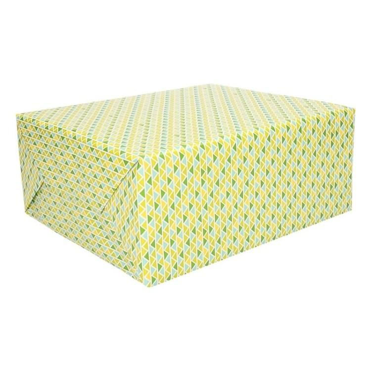 Kadopapier verschillende driehoekjes printt