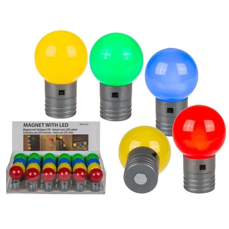 LED lamp magneten geel