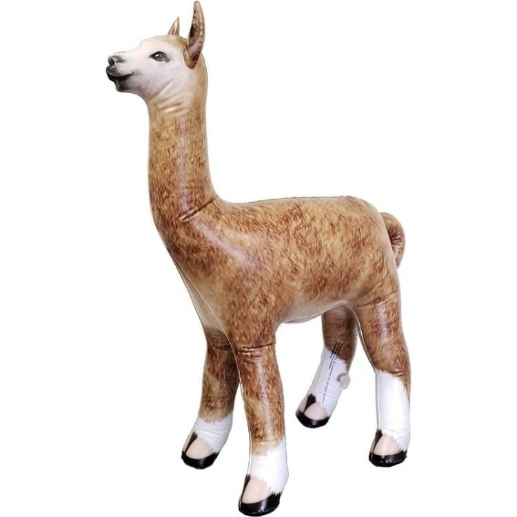 Opblaasbare alpaca/lama 75 cm decoratie/speelgoed