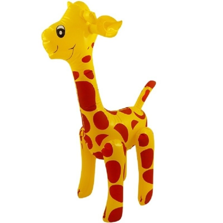 Opblaasbare giraffe 59 cm decoratie/speelgoed