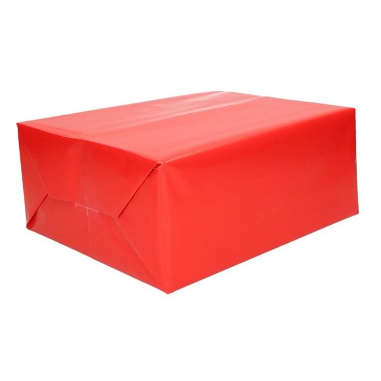 Rood cadeaupapier op rol 70 x 200 cm