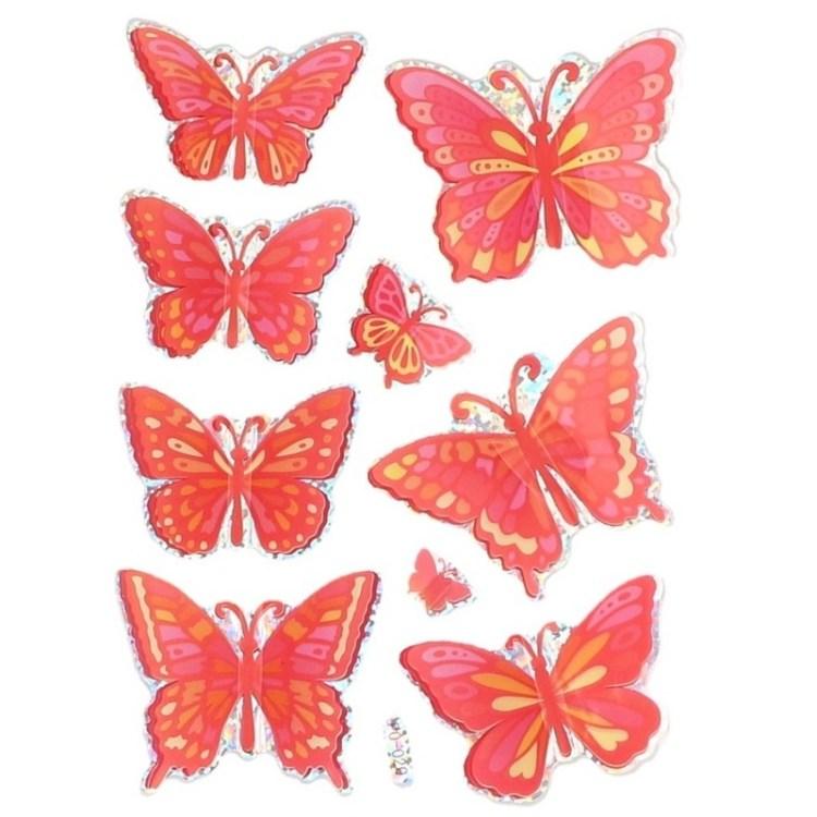 Vlinder stickers voor ballonnen